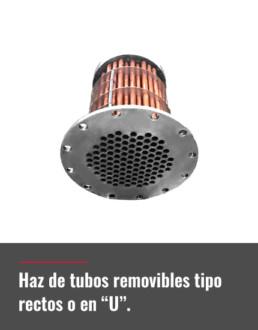 haz de tubos removibles tipo rectos o en U